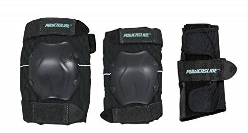 Powerslide Herren Standard Men Tri-Pack Schutzer, Schwarz, XL