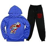 T-rans-forMers Re-sCue B-ots - Conjunto de chándal de 2 piezas con capucha y pantalones deportivos para niños y niñas