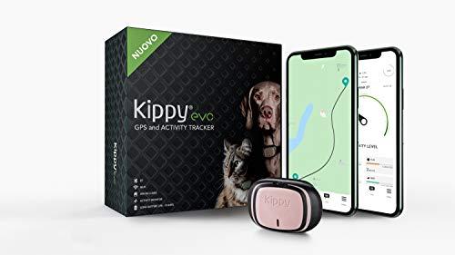 Kippy - Kippy EVO - Das Neue GPS und Activity Monitor für Hunde und Katzen, 38 gr, Waterproof, Batterie 10 Tage, Pink Petal