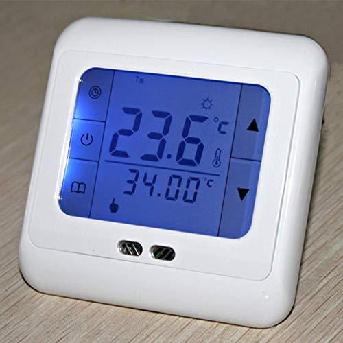 JINSE draadloze intelligente thermostaat, thermoregulator touchscreen verwarming thermostaat voor warme vloer/elektrische verwarming systeem temperatuurregelaar Large blauw