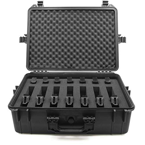 CASEMATIX 23' Customizable 7 Pistol Multiple Pistol Case - Waterproof & Shockproof Hard Gun...