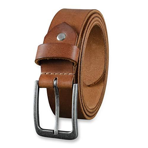 STILORD Cinturón de Cuero para Hombre de Búfalo Robusto Correa para Vaqueros con Hebilla de Espina Vintage 34mm