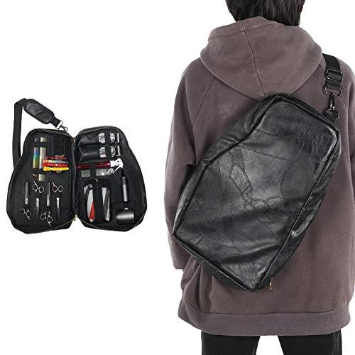 Bolsa de almacenamiento para herramientas de peluquería, bolso de viaje portátil multifunción, estuche de peluquería para peluquería, soporte para secador de pelo, tijeras, peine