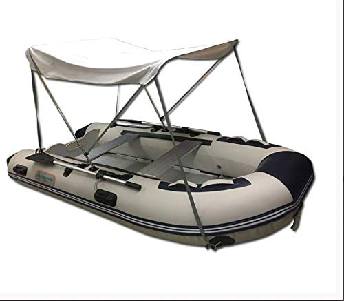 Newgreeny Waterproof And Anti-shelter Awning For Net Boat Assault Boat Folding Boat Big canopy without boat White