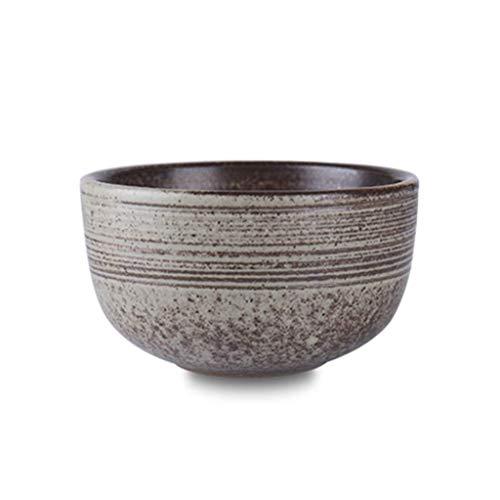 Cuenco de la cultura popular Después de la familia cuenco de comida de estilo japonés creativo tazón de cerámica de época personaje adulto que tome un tazón tazón 12,6 * 7,5 cm cuenco de la cultura po