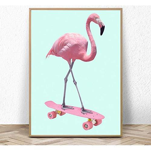 ZWBBO Canvas schilderij decoratief schilderij skateboard dieren posters en afdrukken muurkunst canvas schilderijen schilderijen schilderijen voor woonkamer wooncultuur