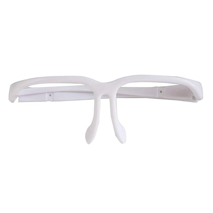 ラウズ横読みやすいSUPVOXフェイスシールドフレーム使い捨て安全メガネデンタルアイシールドオイルスラッシュガード(ホワイト)