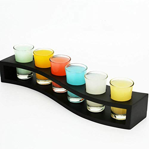 PGE Schnapsglas Spirituosen Glas Whiskey Cocktail Probierbecher Wein Set Wodka Flame Cup Bar Familie multi