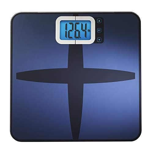 InstaTrack Digital Fat/BMI Bathroom Scale with High Precision Sensors – Large Display Accurately Measures Body Water, Muscle Mass, and Calorie Estimator, Blue