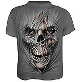 Lovelegis T-Shirt - t-Shirt - Chemise tête de Mort - Zombie - Momie - Horreur - 3D - Manches Courtes - Homme - Femme - Unisexe - drôle - idée Cadeau - Cosplay - déguisement - Taille XL - c08