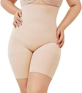 DELIMIRA Faja Reductora Ropa Interior Cintura Alta Pantalones Moldeadores para Mujer Beige 44