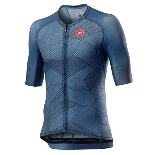 castelli Climber's 3.0 Camiseta, Hombre, Light Steel Blue, M
