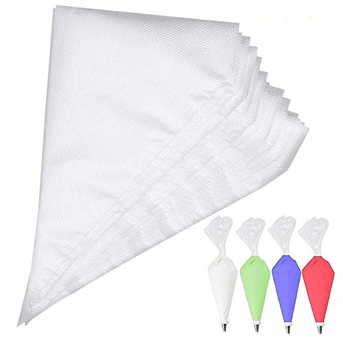 Disposable pastry bags, 100 pcs of decorating bag for cookie decorator, Clear Cupcake Decorating Bags for kitchen baking