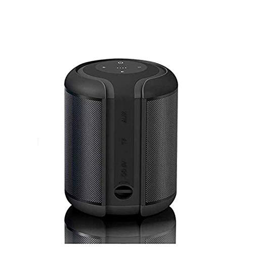 HKJZ SFLRW Altavoz Bluetooth súper portátil con Tiempo de reproducción de 20 Horas, bajo Mejorado, micrófono de cancelación de Ruido - Negro