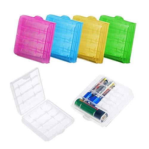 Delsen, 6 contenitori in plastica rigida per batterie AA e AAA