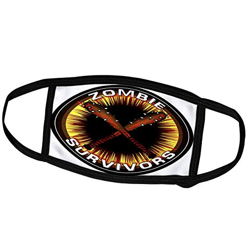 Promini Monatsmaske – Mark Grace Zombie Survivors Zombie Clubs – Zombie Clubs Survivors Clubs auf schwarz – Staubmaske Outdoor-Schutzmaske