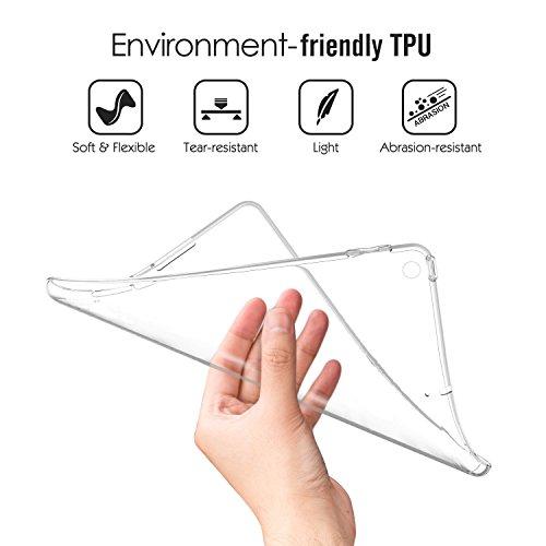Gosento Huawei MediaPad M5 (8,4 Zoll) Hülle TPU Case, Soft Premium Flex Silikon Backcover Ultra Dünn Clear Semi-transparent Schutzhülle Tablet Cover für MediaPad M5 8.4 (Matt transparent)EINWEG - 4