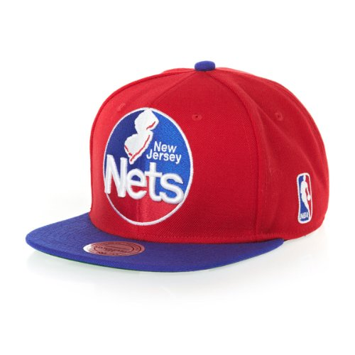 Mitchell & Ness - Casquette Snapback Homme New Jersey Nets XL Logo 2Tone TC
