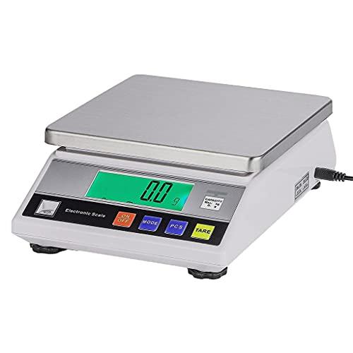 WZ Balanza Analítica Laboratorio Electrónica Báscula Alta Precisión Comercial 1g/ 0,1g / 0,01g Pesaje Escala Joyería Cocina con Peso Calibración (Size : 1kg/0.01g)