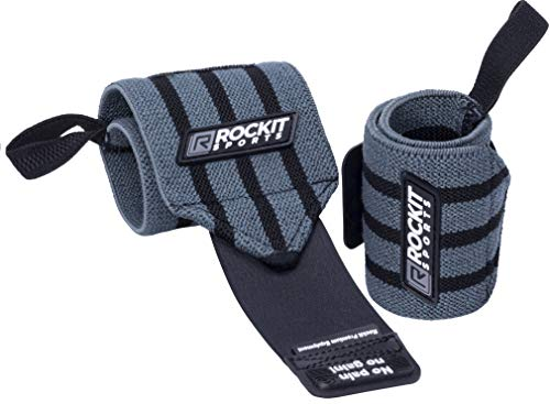 ROCKITZ Handgelenk Bandagen Fitness - Handgelenkbandage für Kraftsport, Crossfit & Krafttraining Bandage