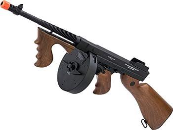 Evike Cybergun Licensed Thompson Chicago Typewriter Airsoft AEG Rifle w/Drum Mag  Package  Gun Only