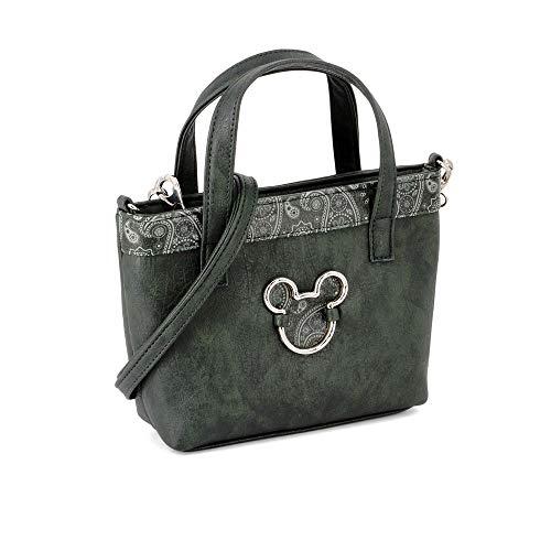KARACTERMANIA Mickey Mouse Paisgreen-bolso Tote (pequeño) Umhängetasche, 24 cm, Grün (Paisgreen)