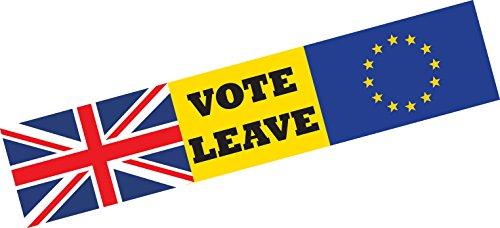 UE Vote Laisse Europe brexit voiture Bumper Sticker fenêtre Porte Business Van Taxi