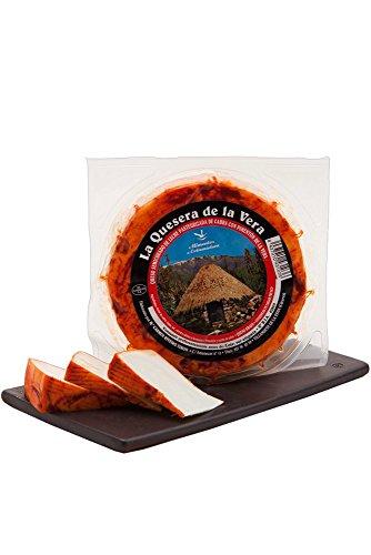 La Quesera De La Vera - Ziegenkäse mit Paprika, 6 Monate Halbgereift (1 x ca. 640 g)