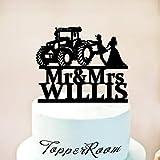 Tractor Wedding Cake Topper,Farmer Wedding cake topper,Rustic Wedding Cake Topper,Tractor Cake Topper,Country Wedding cake topper