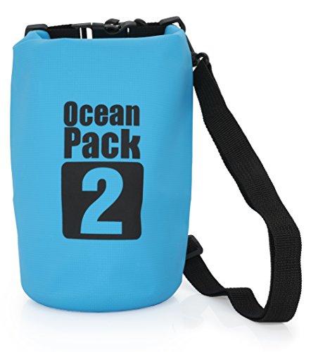 MyGadget Sac Etanche 2L pour Sport Nautique - Dry Bag Certifié Waterproof Imperméable - Voile Canoë Kayak...