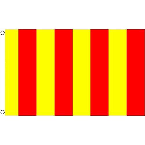 AZ FLAG Flagge ROTER UND GELBER Schiedsrichter 90x60cm - Motorsport RENNLEITUNG ROT UND GELB Fahne 60 x 90 cm - flaggen Top Qualität