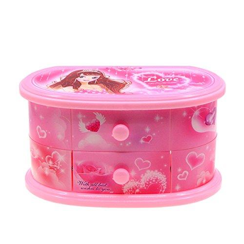 Caja musical Saim con diseño de cuento de hadas para niños con bailarina rosa Alicia en el país de las maravillas, juguetes musicales