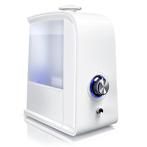 Arendo - Umidificatore e Ionizzatore da 3,5 Litri 2 in 1 - Depuratore aria - Silenzioso - Spegnimento automatico - A risparmio energetico - Bianco