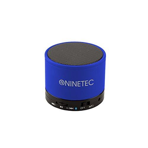 NINETEC BeatBlaster Bluetooth Bass Speaker Micro SD AUX Freisprechfunktion Blau