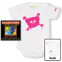 Rockabye Baby! Good Day, Good Night + 100% Organic Cotton Bodysuit (White/Pink)