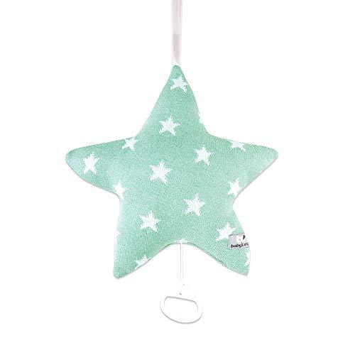 BO Baby's Only - Spieluhr Star - Mint/Weiß