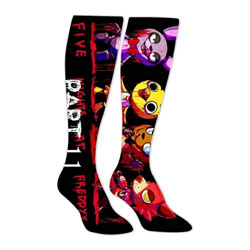 YJIISD01F FN-AF 3D Printed Athletic Socks Knee High Socks for Men&Women Sport Long Sock Tube Long Stockings Christmas Socks