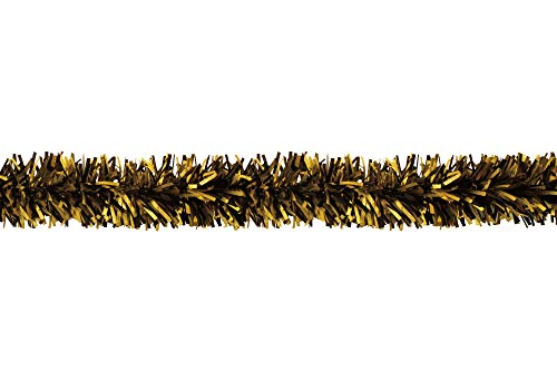 CC Home Furnishings 25' Gold and Black Embossed Contemporary Decorative Party Twist Garland