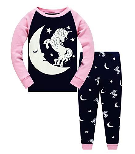 Popshion Mädchen-Schlafanzug-Set mit langen Ärmeln, Meerjungfrauen-Nachtwäsche, 2...