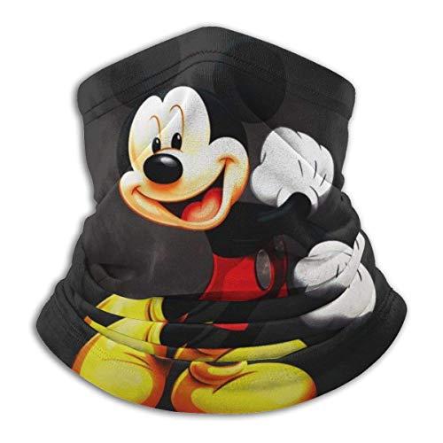 Mscara de cuello con diseo de Mickey Mouse de dibujos animados, suave y agradable a la piel, bandana protectora, diadema de proteccin antihumedad