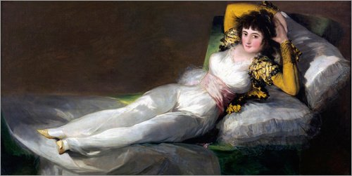 Posterlounge Cuadro de PVC 80 x 40 cm: Clothed Maja de Francisco Jose de Goya