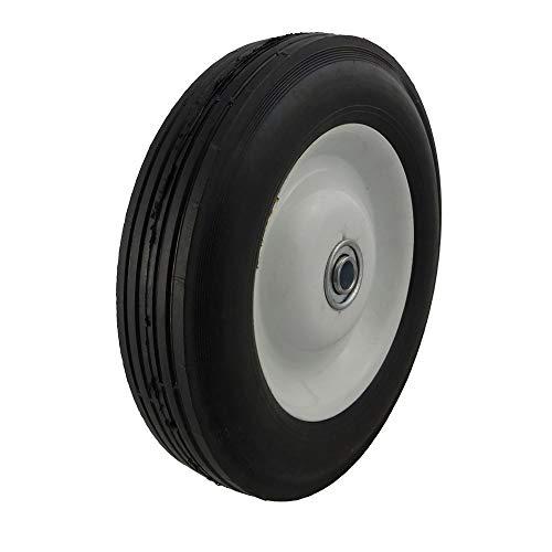 "Marathon 8x1.75"" Semi-Pneumatic Tire on Wheel with Centered Hub"