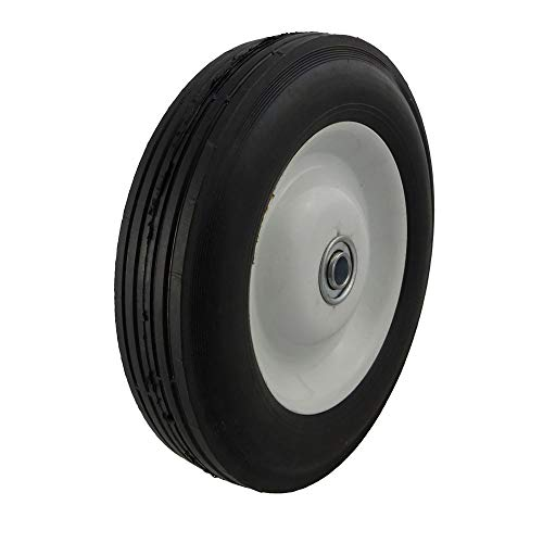 "Marathon 8x1.75"" Semi-Pneumatic Tire on Wheel with Centered Hub"