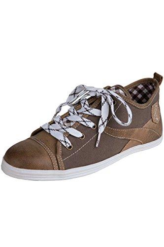 Spieth & Wensky Herren Sneaker Gamskopf, braun, 42