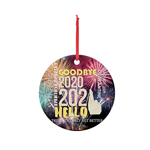 Writtian Christmas Ornament Tree Hanging Pendant Decorations Wooden Baubles Accessories Outdoor or Indoor Home Decor Eve Xmas Gifts Keepsake Crafts