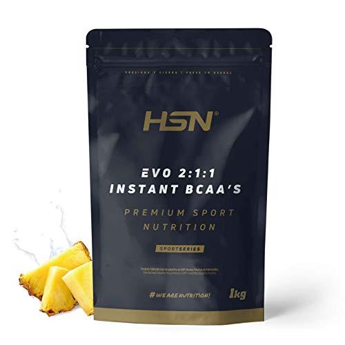 Evo 2:1:1 de HSN | BCAA 2 1 1 en Polvo | Suplemento de Aminoácidos Veganos Sabor Piña | 200 servicios