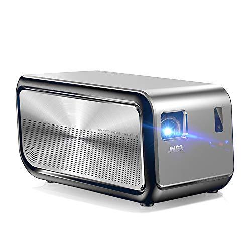 Heimkino-Beamer, Full HD 1080P DLP-Projektor-Unterstützung Autofokus/Trapezkorrektur/Dolby / 3D / WiFi/Bluetooth-Lautsprecher