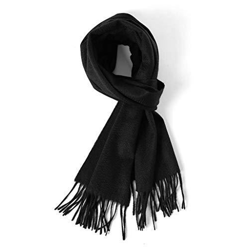 SUFLANG Winter Warm Sjaal voor Vrouwen Sjaal Wikkel Bruiloft Feest Deken Meisjes Grote Zachte Sjaals Kerstcadeau Black-175 * 135cm