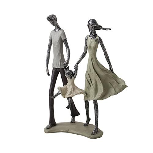 SHUMACHENG2020 Arte decoración Escultura Abarcando la Escultura Feliz Familia Estatua Familia Llena de Familia Cálida y Amor Resina Craft Figurines Mejor opción Boda o Regalos de cumpl