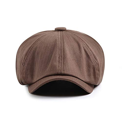 LINBUDAO Octagon hoed dames baret hoed casual hoed man